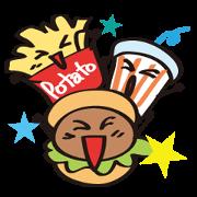 สติ๊กเกอร์ไลน์ Burger Kun Thanks Set (English edition)