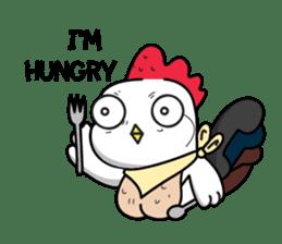 Katak : the white chicken (Eng) sticker #7011449