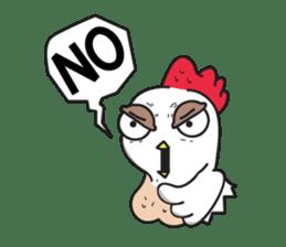 Katak : the white chicken (Eng) sticker #7011450