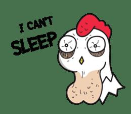 Katak : the white chicken (Eng) sticker #7011452