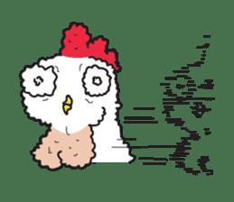 Katak : the white chicken (Eng) sticker #7011465