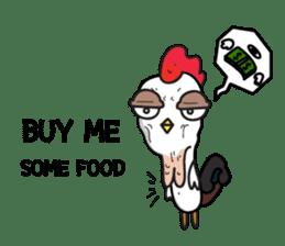 Katak : the white chicken (Eng) sticker #7011469