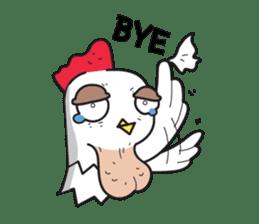 Katak : the white chicken (Eng) sticker #7011480