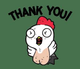 Katak : the white chicken (Eng) sticker #7011484