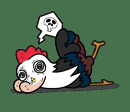 Katak : the white chicken (Eng) sticker #7011486