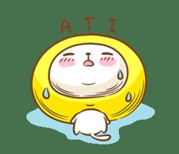 Lemon cat squash 2 sticker #7013049
