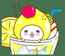 Lemon cat squash 2 sticker #7013052
