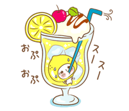 Lemon cat squash 2 sticker #7013055