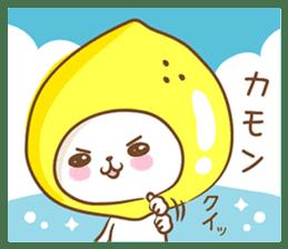 Lemon cat squash 2 sticker #7013056