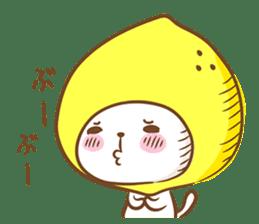 Lemon cat squash 2 sticker #7013062