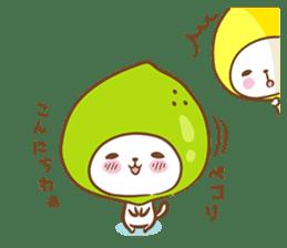 Lemon cat squash 2 sticker #7013072