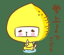 Lemon cat squash 2 sticker #7013076