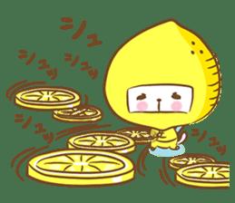 Lemon cat squash 2 sticker #7013077
