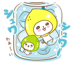 Lemon cat squash 2 sticker #7013080