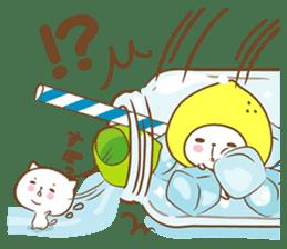 Lemon cat squash 2 sticker #7013081