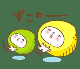 Lemon cat squash 2 sticker #7013086