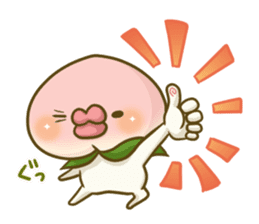 Feeling of peach 3 sticker #7013448
