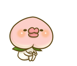 Feeling of peach 3 sticker #7013465