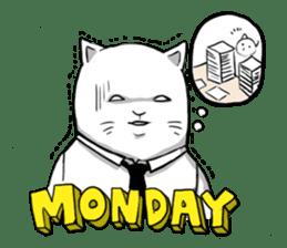 The Salary Cat sticker #7013793