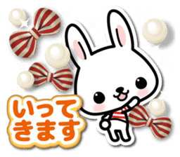 Bunny 3D Sticker 2 sticker #7014183