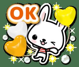 Bunny 3D Sticker 2 sticker #7014193