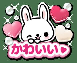 Bunny 3D Sticker 2 sticker #7014205