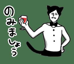 Mustache Cat man sticker #7014462