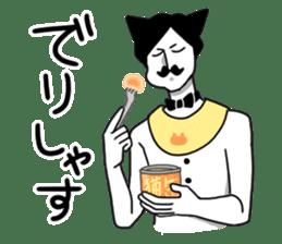 Mustache Cat man sticker #7014465