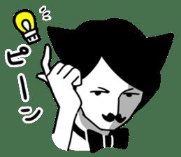 Mustache Cat man sticker #7014474