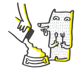 M the dog and yellow light sticker #7014613