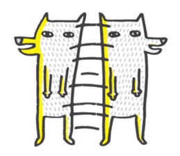 M the dog and yellow light sticker #7014618
