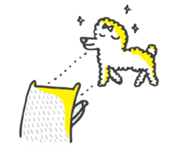 M the dog and yellow light sticker #7014620