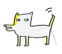 M the dog and yellow light sticker #7014621