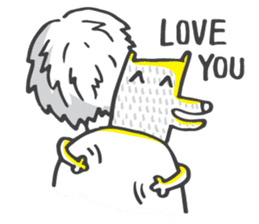 M the dog and yellow light sticker #7014623