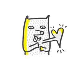 M the dog and yellow light sticker #7014624