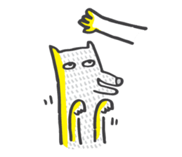 M the dog and yellow light sticker #7014625