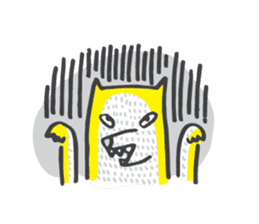 M the dog and yellow light sticker #7014633