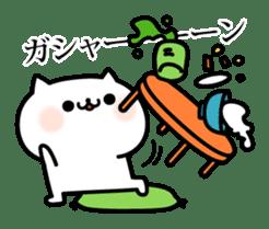 Cat of violent reaction sticker #7018619