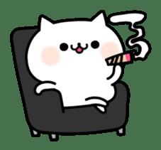 Cat of violent reaction sticker #7018635