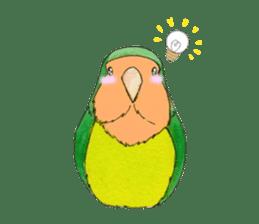 Everyday lovebird sticker #7024578
