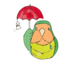 Everyday lovebird sticker #7024594