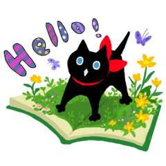Picture book of the happy black cat