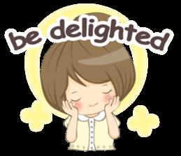 Optimistic girl (EN) sticker #7037189