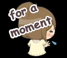 Optimistic girl (EN) sticker #7037195