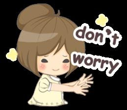 Optimistic girl (EN) sticker #7037206