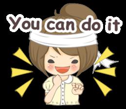 Optimistic girl (EN) sticker #7037209