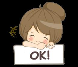 Optimistic girl (EN) sticker #7037214
