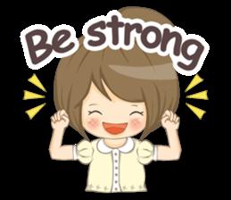 Optimistic girl (EN) sticker #7037220