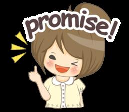 Optimistic girl (EN) sticker #7037222