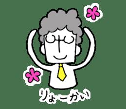 Heartwarming businessman with glasses sticker #7039333